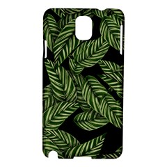 Leaves Black Background Pattern Samsung Galaxy Note 3 N9005 Hardshell Case