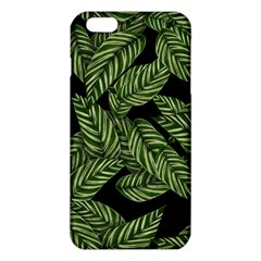 Leaves Black Background Pattern Iphone 6 Plus/6s Plus Tpu Case