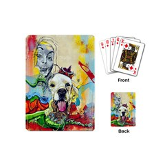 Wall Girl Dog Graphite Street Art Playing Cards (mini)