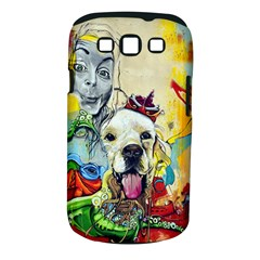 Wall Girl Dog Graphite Street Art Samsung Galaxy S Iii Classic Hardshell Case (pc+silicone)