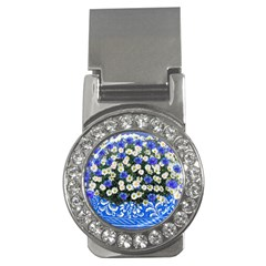 Marguerite Cornflower Vase Blossom Money Clips (cz)