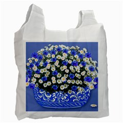 Marguerite Cornflower Vase Blossom Recycle Bag (two Side)