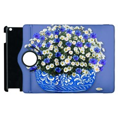 Marguerite Cornflower Vase Blossom Apple Ipad 2 Flip 360 Case