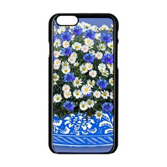 Marguerite Cornflower Vase Blossom Apple Iphone 6/6s Black Enamel Case by Simbadda