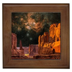 Geology Sand Stone Canyon Framed Tiles