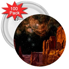 Geology Sand Stone Canyon 3  Buttons (100 Pack)