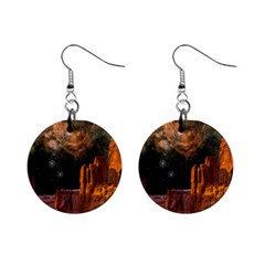 Geology Sand Stone Canyon Mini Button Earrings