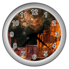 Geology Sand Stone Canyon Wall Clock (silver)