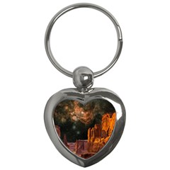 Geology Sand Stone Canyon Key Chains (heart)