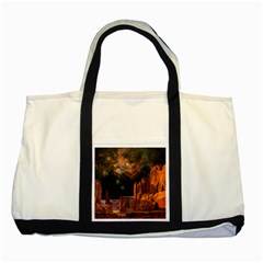 Geology Sand Stone Canyon Two Tone Tote Bag