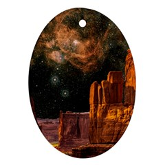 Geology Sand Stone Canyon Oval Ornament (two Sides)