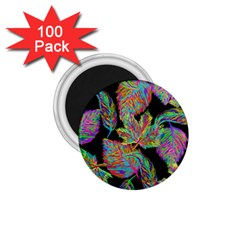 Autumn Pattern Dried Leaves 1 75  Magnets (100 Pack)  by Simbadda