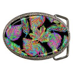 Autumn Pattern Dried Leaves Belt Buckles by Simbadda