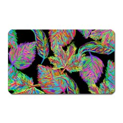 Autumn Pattern Dried Leaves Magnet (rectangular) by Simbadda
