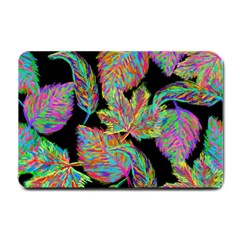 Autumn Pattern Dried Leaves Small Doormat  by Simbadda