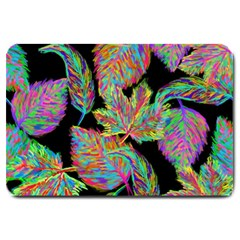 Autumn Pattern Dried Leaves Large Doormat  by Simbadda