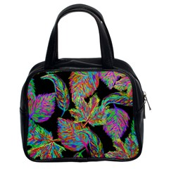 Autumn Pattern Dried Leaves Classic Handbag (two Sides)