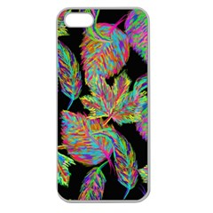 Autumn Pattern Dried Leaves Apple Seamless Iphone 5 Case (clear) by Simbadda