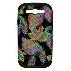 Autumn Pattern Dried Leaves Samsung Galaxy S Iii Hardshell Case (pc+silicone)