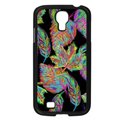 Autumn Pattern Dried Leaves Samsung Galaxy S4 I9500/ I9505 Case (black) by Simbadda