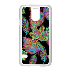 Autumn Pattern Dried Leaves Samsung Galaxy S5 Case (white) by Simbadda