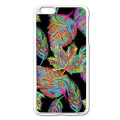 Autumn Pattern Dried Leaves Apple Iphone 6 Plus/6s Plus Enamel White Case
