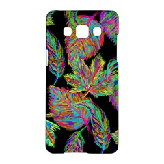 Autumn Pattern Dried Leaves Samsung Galaxy A5 Hardshell Case  by Simbadda