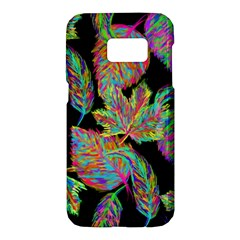 Autumn Pattern Dried Leaves Samsung Galaxy S7 Hardshell Case  by Simbadda