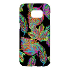 Autumn Pattern Dried Leaves Samsung Galaxy S7 Edge Hardshell Case by Simbadda