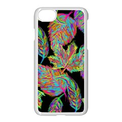 Autumn Pattern Dried Leaves Apple Iphone 7 Seamless Case (white)