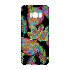 Autumn Pattern Dried Leaves Samsung Galaxy S8 Hardshell Case  by Simbadda