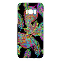 Autumn Pattern Dried Leaves Samsung Galaxy S8 Plus Hardshell Case  by Simbadda