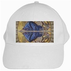 Mosaic Painting Glass Decoration White Cap