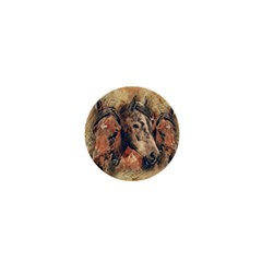 Head Horse Animal Vintage 1  Mini Buttons