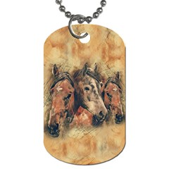 Head Horse Animal Vintage Dog Tag (one Side) by Simbadda