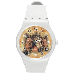 Head Horse Animal Vintage Round Plastic Sport Watch (m) by Simbadda