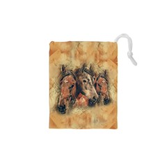Head Horse Animal Vintage Drawstring Pouch (xs)