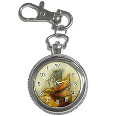 Boat Old Fisherman Mar Ocean Key Chain Watches
