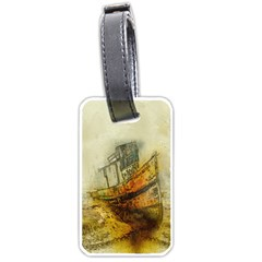 Boat Old Fisherman Mar Ocean Luggage Tags (one Side)