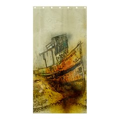 Boat Old Fisherman Mar Ocean Shower Curtain 36  X 72  (stall)