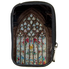 St Martins In The Bullring Birmingham Compact Camera Leather Case by Simbadda