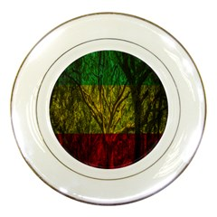 Rasta Forest Rastafari Nature Porcelain Plates