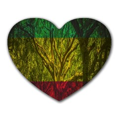 Rasta Forest Rastafari Nature Heart Mousepads