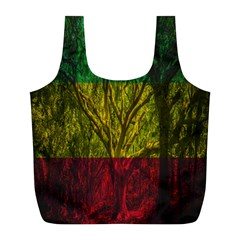 Rasta Forest Rastafari Nature Full Print Recycle Bag (l)