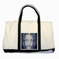 Girl Water Natural Hair Wet Bath Two Tone Tote Bag