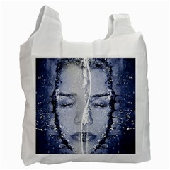 Girl Water Natural Hair Wet Bath Recycle Bag (one Side)