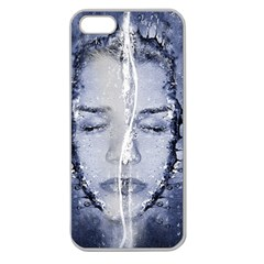 Girl Water Natural Hair Wet Bath Apple Seamless Iphone 5 Case (clear)