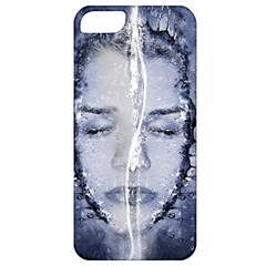 Girl Water Natural Hair Wet Bath Apple Iphone 5 Classic Hardshell Case