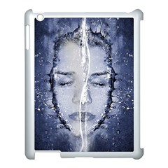 Girl Water Natural Hair Wet Bath Apple Ipad 3/4 Case (white)