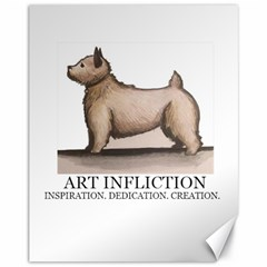New Art Infliction Logo Canvas 11  X 14  (unframed) by spenny21
